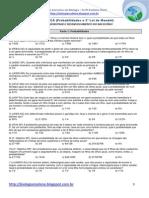 Exercícios de Genética - Probabilidades e Segunda Lei de Mendel