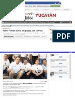 21-04-2015 Nerio Torres suma los pasos por Mérida.