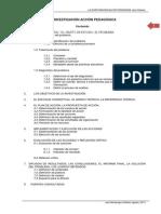 Esquema de Informe Final de Investigación Acción