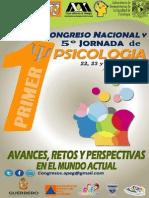 Primer Congreso Nacional y Quinta Jornada de Psicología