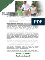21-04-2015 Nerio Torres Arcila pondrá en marcha la Unidad con especialistas en Gerontología