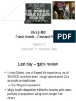 2. History of Public Health KNES 400 Spring 2015