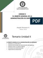 Unidad II El Ámbito General de La Administración de Empresas