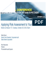 Applying Risk Assessment to Your Audit Plan - Rich Reynolds