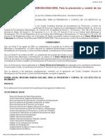 NOM-034-SSA2-2002, Para La Prevención y Control de Los Defectos Al Nacimiento.