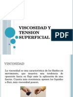 Viscosidad y Tension Superficial