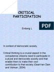 Critical Participation
