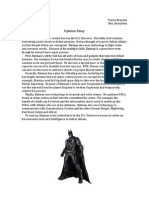 Batman Opinion Essay