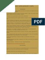 Diferença Entre Carta Pessoal e Carta Comercial