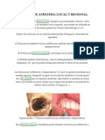 Técnicas de Anestesia Local y Regional 1