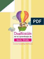 Dosificacion Aprendizaje 6to Grado