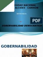 A. Gobernabilidad