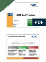 BIRT Best Practices Actuats Day