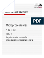 Arquitectura Del Procesador y Organización Interna de La Memoria