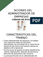 Funciones Del Administrador de Empresas