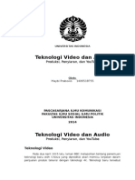 TEKNOLOGI KOMUNIKASI VIDEO DAN AUDIO