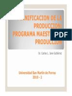 Plan Maestro de Producción PDF