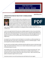 VFW Post 2593 Newsletter-APR/MAY 2015