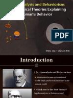 Psychoanalysis and Behaviorism