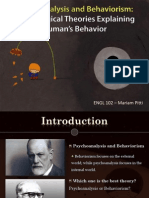 Psychoanalysis and Behaviorism