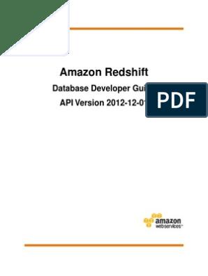 Amazon Redshift Database Developer Guide | Amazon Web