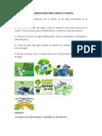 Recomendaciones Para Cuidar El Planeta
