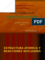 Estructura atomica y reacciones nucleares