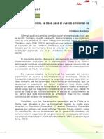 Desarrollo Sostenible La Clave Para El Avance Ambiental de La Humanidad-Erikzon Mendoza