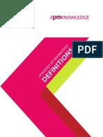 APM BOK - Definitions2012