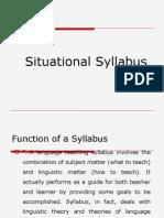 Situational Sylabus