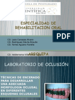 TÉCNICAS DE ENCERADO PARA DESARROLLAR ADECUADA MORFOLOGÍA OCLUSAL