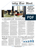 The Daily Tar Heel for April 22, 2015