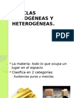 Mezclas Homogéneas y Heterogeneas