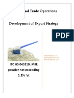 Export Potential for Milk Powder