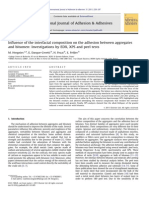 Influence of the Interfacial Composition on the Adhesion Between Aggregates and Bitumen Investigations by EDX XPS and Peel Tests 2011 International Jo