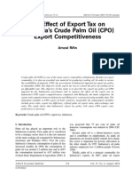 The Effect of Export Tax on Indonesia's Crude Palm Oil (CPO) Export Competitiveness - ProQuest
