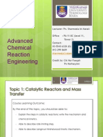 Topic 1.1 - Catalysis and Catalytic Reactors