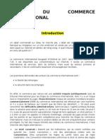 Droit Du Commerce International, m1 Semestre 1