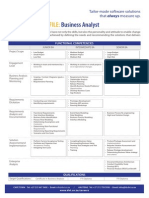 DVT Business Analyst Competency Profile