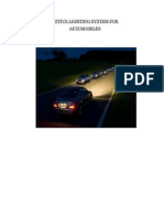 Adaptive Lighting System for Automobiles