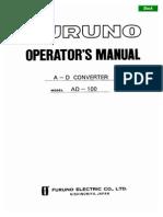AD-100 Operator's Manual Ver U 8-20-04