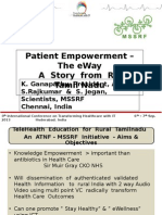 Patient Empowerment - The e Way, A Story from Rural Tamilnadu