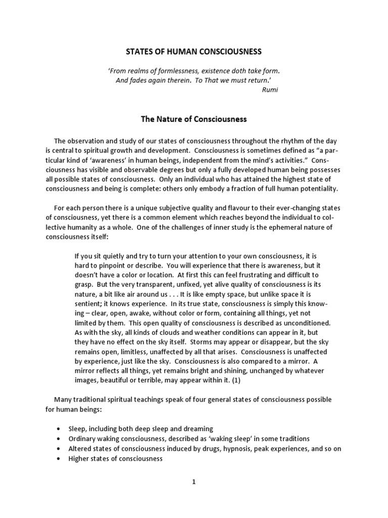 States of Consciousness | Consciousness | Mysticism