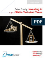 Value Study Investing in E/CTRM in Turbulent Times