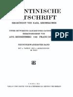 Byzantinische Zeitschrift Jahrgang 29 (1930)