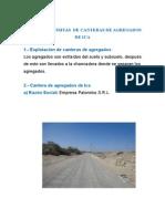 Informe de Visitas de Canteras de Agragados de Ica