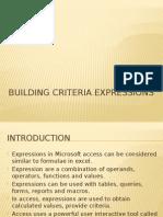Building Criteria Expressions