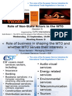 Role of Non‑State Actors in the WTO
