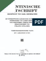 Byzantinische Zeitschrift Jahrgang 34 (1934)