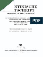 Byzantinische Zeitschrift Jahrgang 36 (1936)